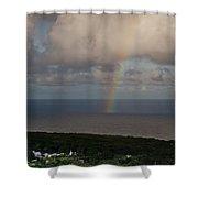 Rainbow Over Maui Shower Curtain