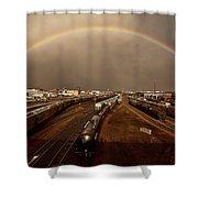Rainbow Over Moose Jaw Saskatchewan Shower Curtain