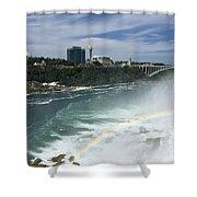 Rainbow Over Niagra Falls Shower Curtain