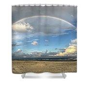 Rainbow Over Ocean Shower Curtain