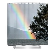 Rainbow Over Odell Shower Curtain