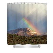 Rainbow Over Picketpost Shower Curtain