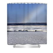 Rainbow Over The Arctic Shower Curtain