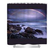 Rainbow Over The Biddeford Pool Shower Curtain