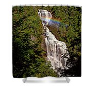 Rainbow Over Whitewater Falls Shower Curtain