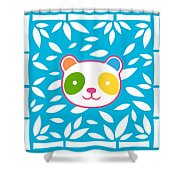 Rainbow Panda Shower Curtain