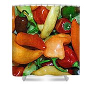 Rainbow Peppers Shower Curtain