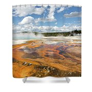 Rainbow Pool In Yellowstone National Park Shower Curtain
