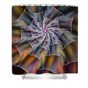 Rainbow Ribbons Shower Curtain