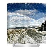 Rainbow Road - Id 16217-152040-7206 Shower Curtain
