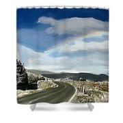 Rainbow Road - Id 16217-152042-9570 Shower Curtain