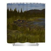 'rainbow Rocks' Shower Curtain