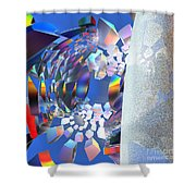 Rainbow Roller Coaster Ride By Jammer Shower Curtain