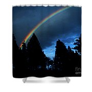Rainbow Sky Shower Curtain
