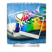 Rainbow Sneakers One Shower Curtain
