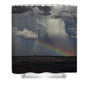 Rainbow Storm Over The Verde Valley Arizona Shower Curtain