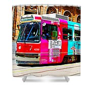 Rainbow Streetcar Shower Curtain