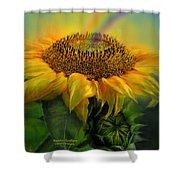 Rainbow Sunflower Shower Curtain