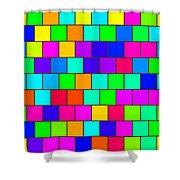 Rainbow Tiles Shower Curtain