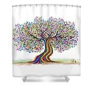 Rainbow Tree Friends  Shower Curtain