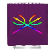 Rainbow Tridents Shower Curtain