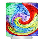 Rainbow Twirl Shower Curtain