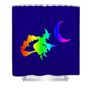 Rainbow Witch Shower Curtain