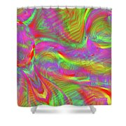 Rainbowlicious Shower Curtain