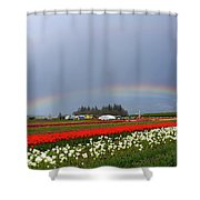 Rainbows At Tulip Festival Shower Curtain