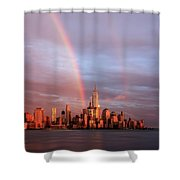 Rainbows In Nyc Shower Curtain
