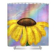 Rainbowsunflower Shower Curtain