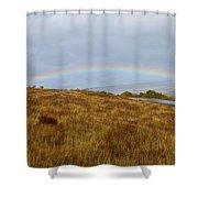 Raindow Over Gold Shower Curtain