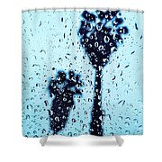 Raindrop Palms Shower Curtain