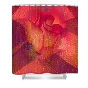 Raindrops On A Beautiful Rosebud Shower Curtain