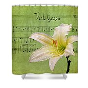 Raindrops On Lily Shower Curtain