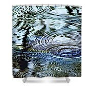 Raindrops On Water Shower Curtain