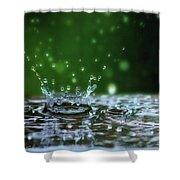 Raindrops Rejuvinate Shower Curtain