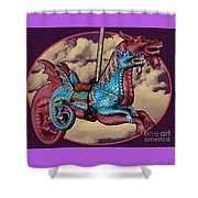 Rainey The Dragon-horse Shower Curtain