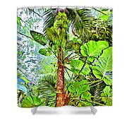 Rainforest Green Shower Curtain