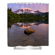 Rainier Dawn Breaking Shower Curtain