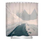 Rainier Haunting Shower Curtain