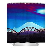 Rainier Over Sodo Shower Curtain