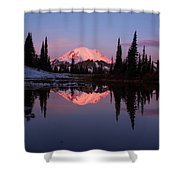 Rainier Sunrise Shower Curtain