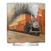 Raining Cinders Shower Curtain