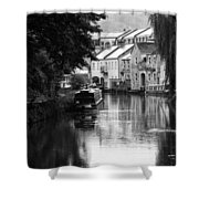 Raining On The Canal Shower Curtain