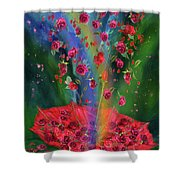 Raining Roses 2 Shower Curtain