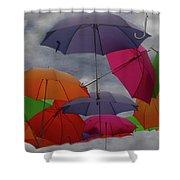 Raining Umbrellas Shower Curtain