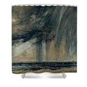 Rainstorm Over The Sea Shower Curtain by John Constable