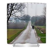 Rainy Amish Day Shower Curtain