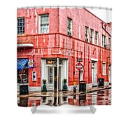 Rainy Corner Shower Curtain